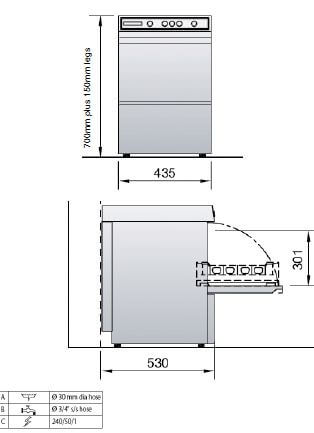 Hobart 402 spec drawing