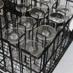 20 compartment glass rack