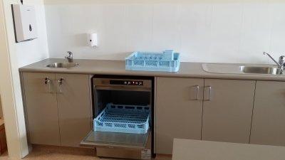 Hobart 502 Dishwasher - door open