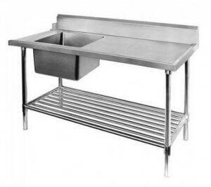 single sink inlet bench