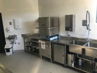 Washtech M2 Pass Through Dishwasher. Kitchen fitout by KLH Constructions
